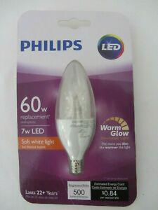 Philips 458687 60w equivalent dimmable candelabra base
