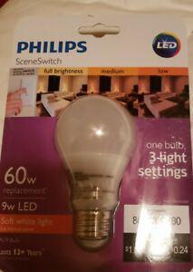 Philips sceneswitch 60w equivalent soft white a19 medium led