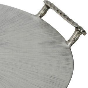 Saltoro sherpi 18 inches round metal frame tray with