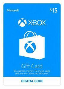 15 xbox prepaid card (digital code physical card only