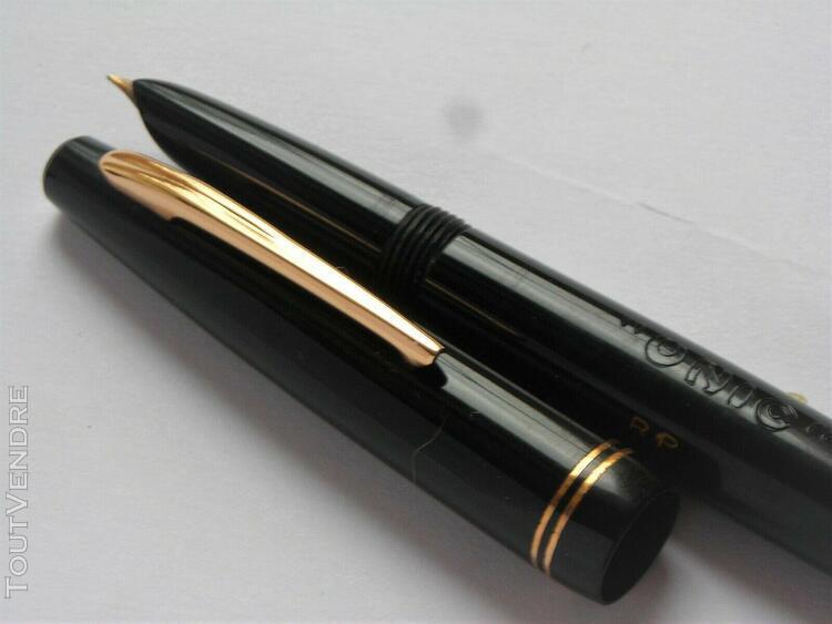Ancien stylo plume or 18 k marqué unic stylo à pompe