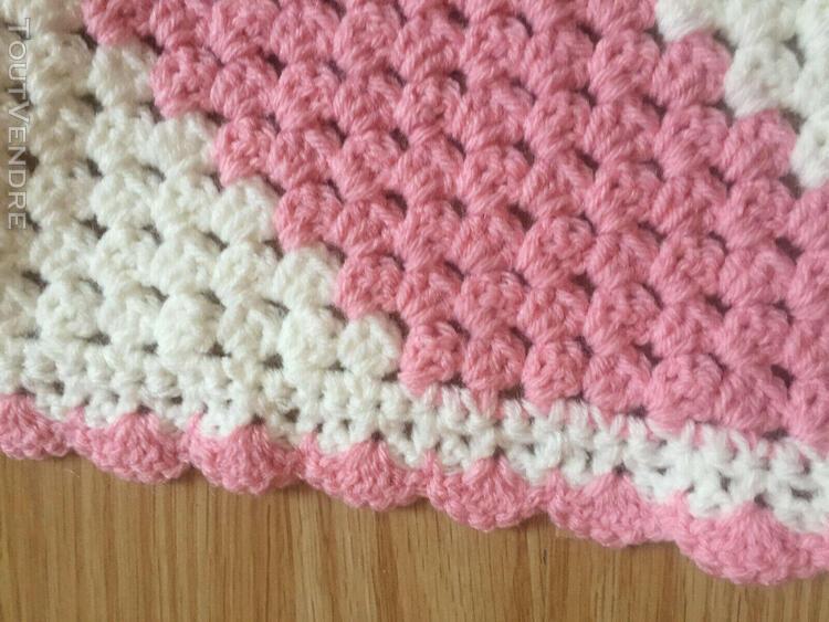 Couverture bebe fait main en laine