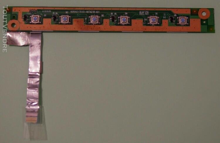 Panneau de commandes 5 boutons pour toshiba satellite l350 (