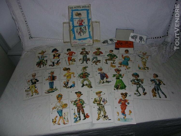 Rares ! 2 jeux anciens 60 cartes les petits drôles capiepa