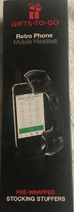 Retro phone mobile headset 7-eleven nib black