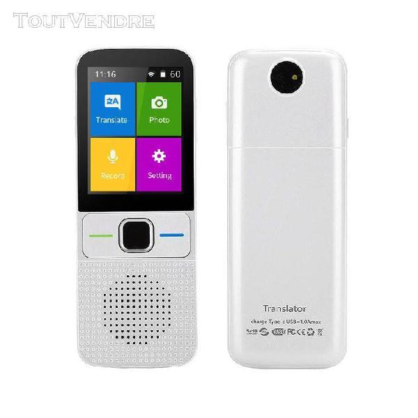 T10 traducteur portable traducteur vocal 137 langues prise e