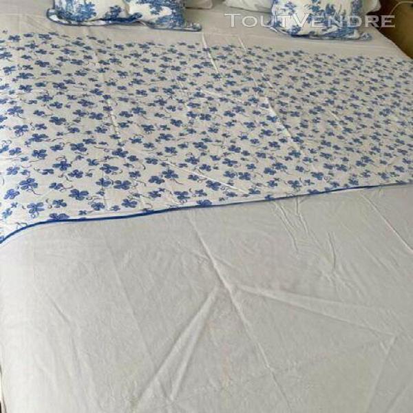 Vintage d porthault parure de lit 100% coton bleu/blanc trè