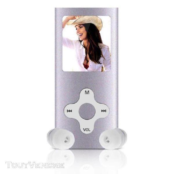 8gb slim digital mp3 mp4 player 1.8inch lcd écran fm radio