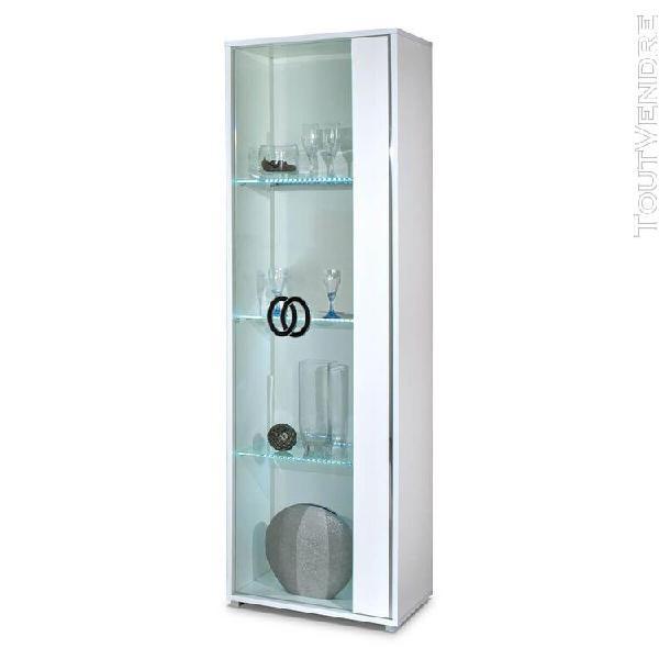 Aglae - vitrine droite 1 porte avec eclairage led