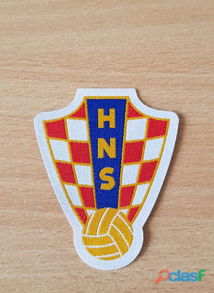 Ecusson Fédération de Croatie de football hns HNS Hrvatski nogometni savez 8x6,5 cm thermocollant