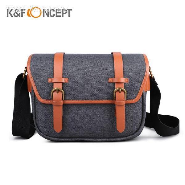 K&f concept sac à bandoulière pour appareil photo sac