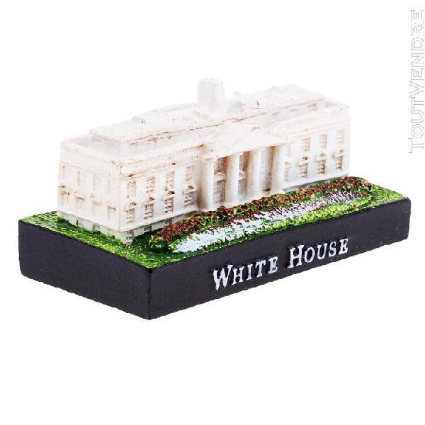 Résine artisanat modèle de bâtiment de la maison blanche