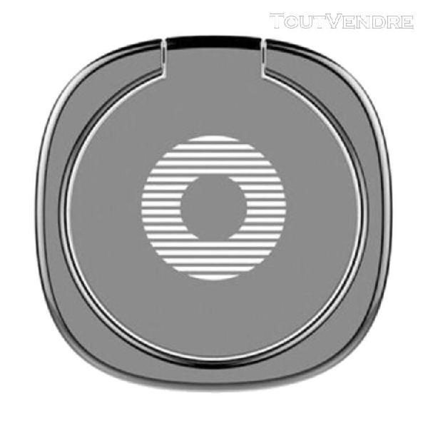 Anneau support téléphone en métal rotation à 360 degrés