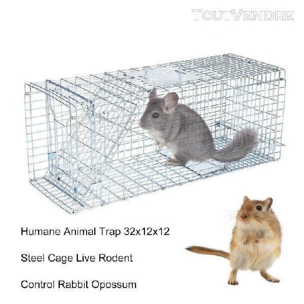 Cage de piège à animaux sans cruauté 32x12x12 cm
