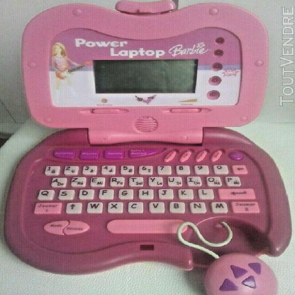 Ordinateur éducatif portable barbie power laptop rose