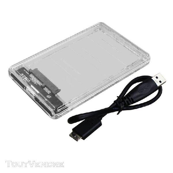Transparent ssd haute vitesse dur mobile usb box disque à