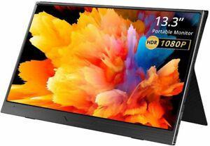 Ecran pc portable, eviciv moniteur fhd usb 13.3 pouces