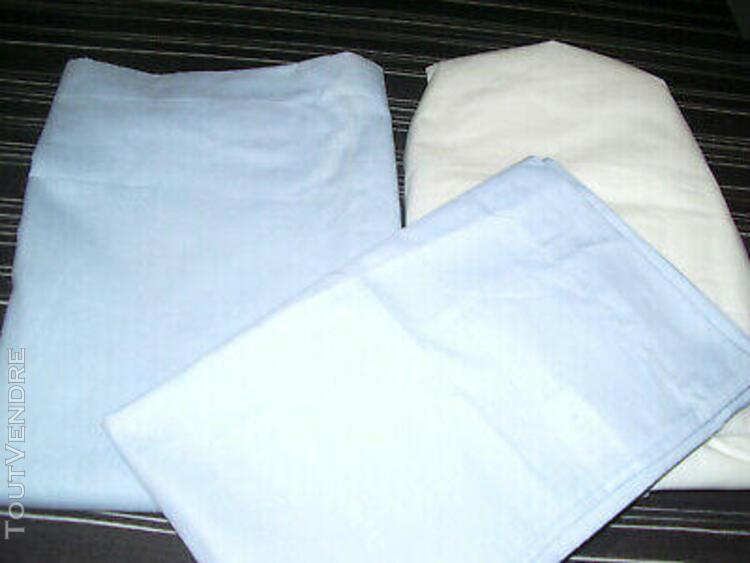 Parure de lit 3 pièces bleue et blanche