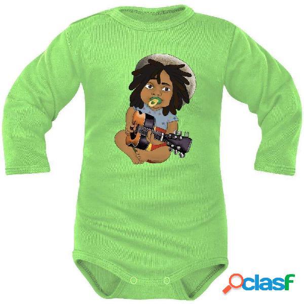 Body bébé original: petit bob marley - vert longues 18-24 mois