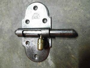 Ancien verrou targette en fer forgé et laiton,serrure porte