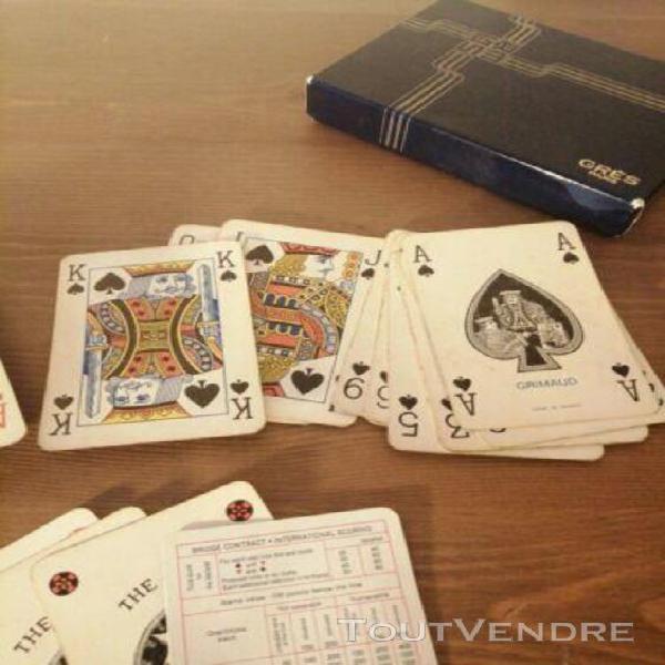 Grimaud grès paris deux jeux 56 cartes plastique boite made