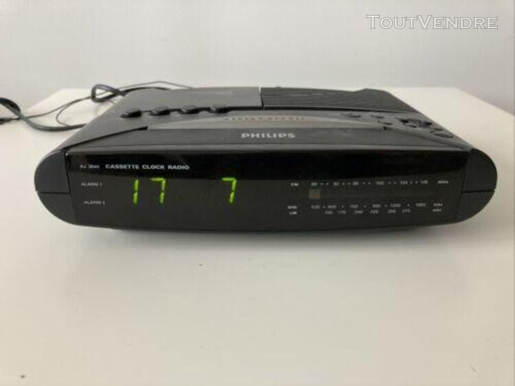 Radio reveil philips aj3840 cassette clock radio vintage