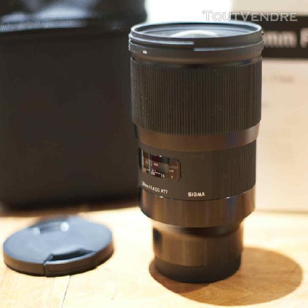 Sigma 28mm 1.4 art sony fe e-mount 28 f/1.4