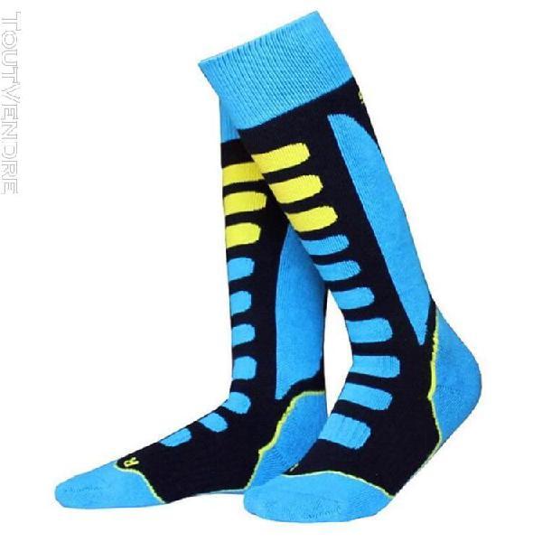 Bleu-européen 35-38] hommes femmes hiver chaud chaussettes
