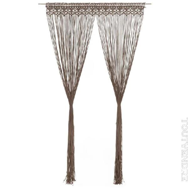Vidaxl rideau en macramé taupe 140x240 cm coton