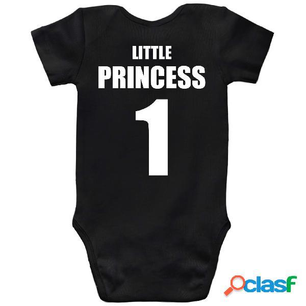 Body bébé original: prince / princess - little princess noir 12-18 mois