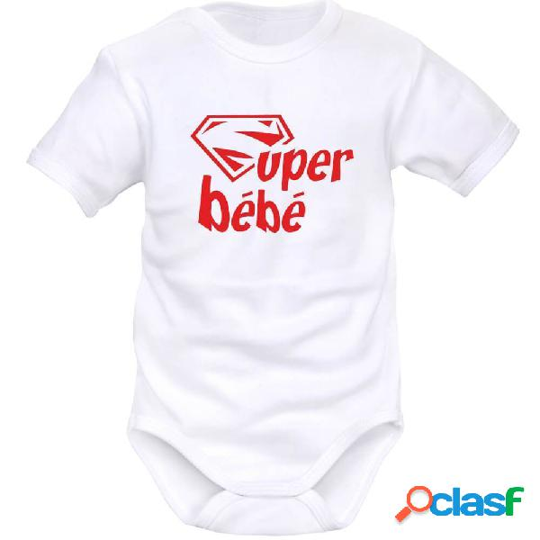 Body bébé original: super bébé - blanc longues
