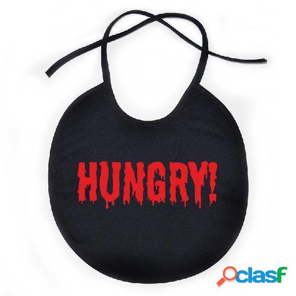 Bavoir bébé original: hungry - tout noir