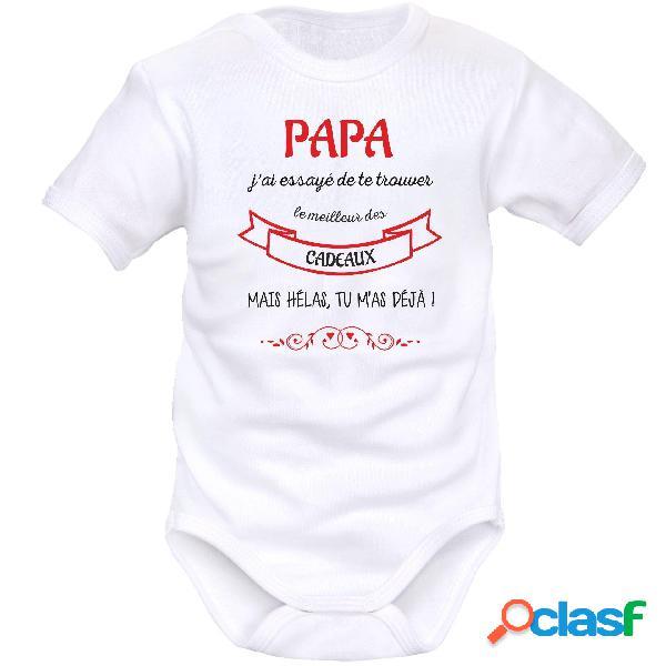 Body bébé original: papa j'ai essayé de te trouver le meilleur des cadeaux - blanc courtes 2-3 mois