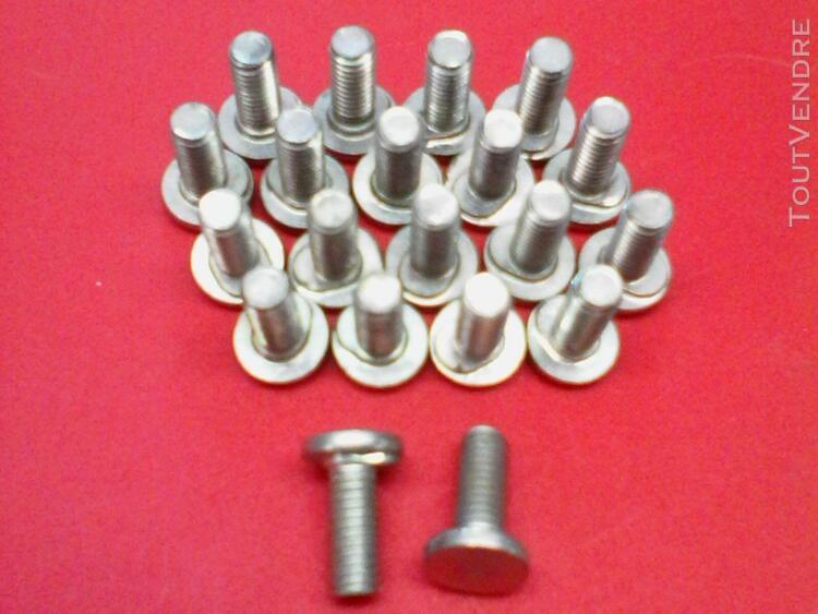 20 boulons tète ronde m6 - 6x17mm collet ovale bloquant (mo