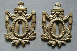 Anciennes entrées de serrure bronze style louis xvi xixe