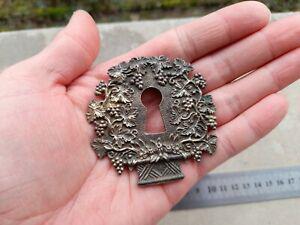 Entrée ancienne de clé serrure de meuble en bronze n°27