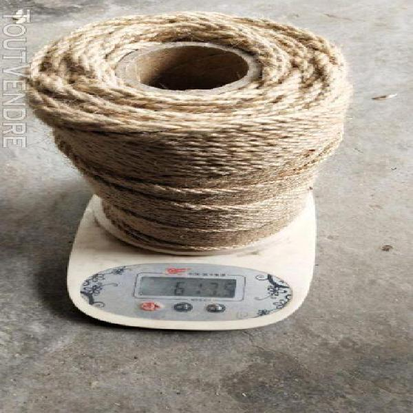 Fil de corde d'emballage de corde de jute de corde de chanvr