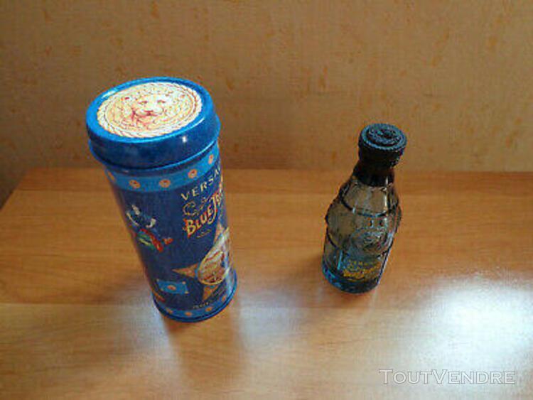 Flacon parfum vide + boîte en métal blue jeans man de