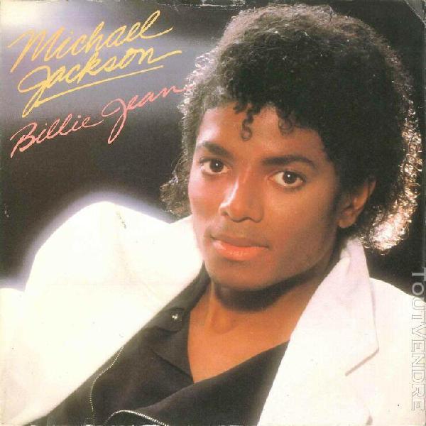 "Michael jackson billie jean (7"" uk blue paper label - 1983)"