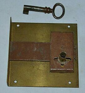 Serrure ancienne fer et laiton verrou clefs