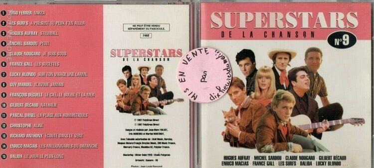 Superstars de la chanson n°9 sardou aufray, nougaro, dalida