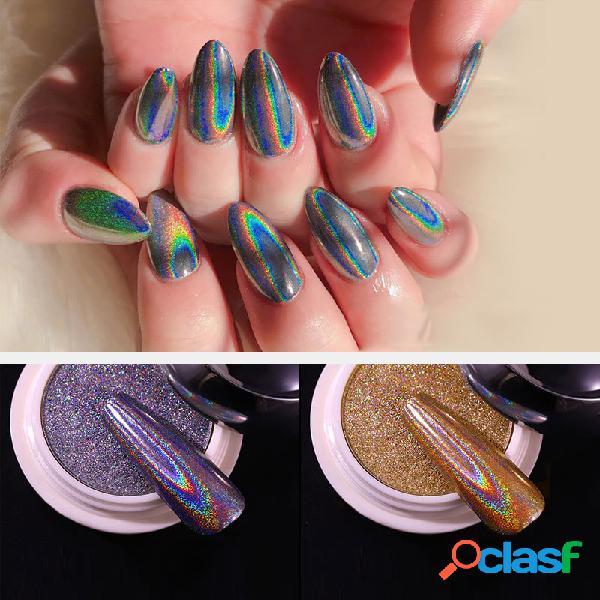 Nail solide laser poudre manucure dédié nail art or argent galvanisé titanium or poudre