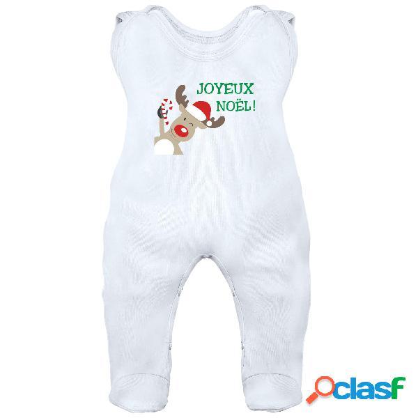 Grenouillère bébé: joyeux noël - blanc 6-12 mois