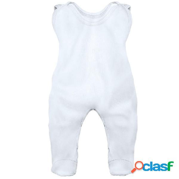Grenouillère bébé personnalisée au prénom de votre bébé (7 couleurs) - blanc 0-1 mois