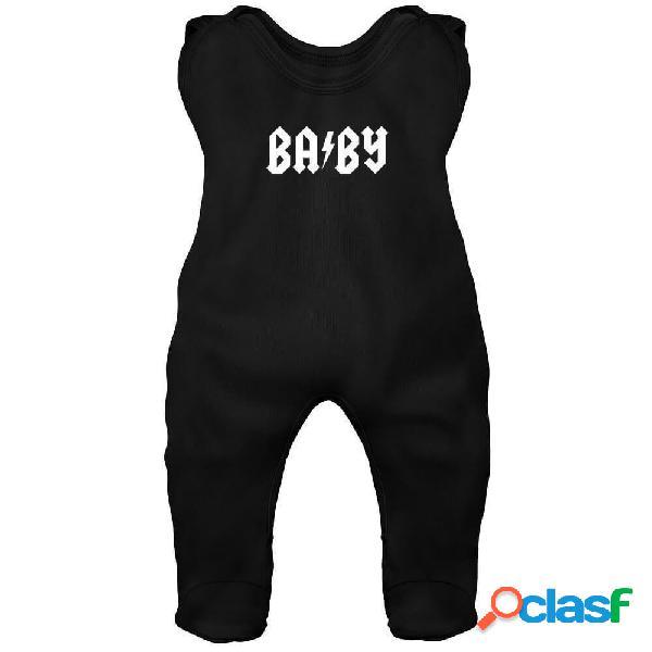 Grenouillère bébé rock: baby - bleu 6-12 mois
