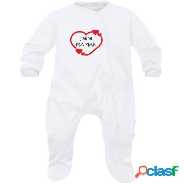 Pyjama bébé famille: j'aime maman (7 couleurs) - rose 3-6 mois