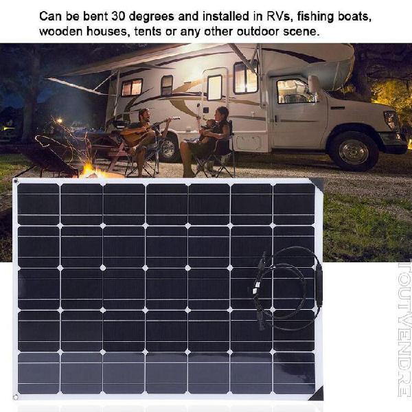Panneau solaire flexible 150w + contr?leur solaire 20a + cab