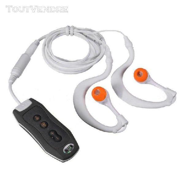 Sports 4gb clip étanche ipx8 lecteur mp3 fm natation