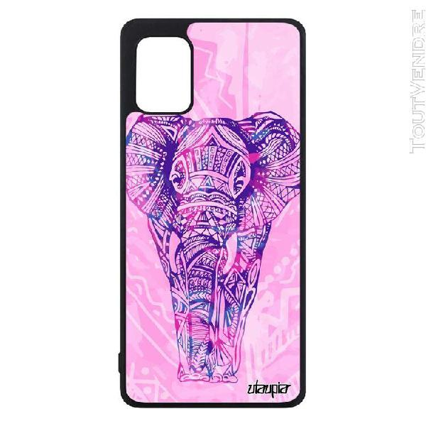 Coque telephone samsung galaxy a31 silicone elephant dessin