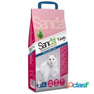 Litière pour chat sanicat aloe vera 3 x 4 litres